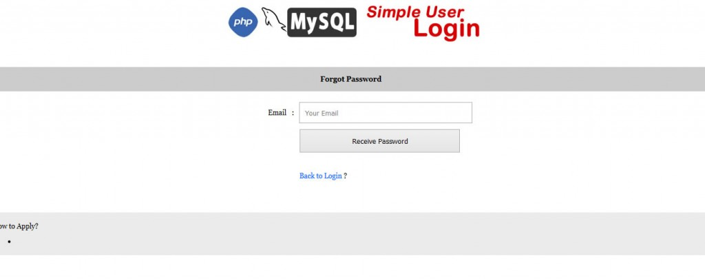 PHP Login Page Example with Demo - OnlineWebApplication