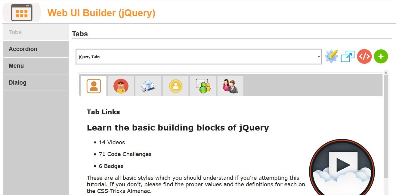 Web Ui Builder Jquery