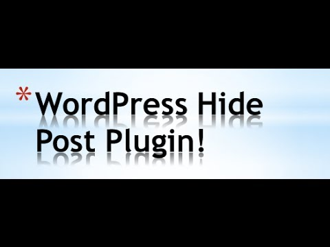 wordpress-hide-post-plugin